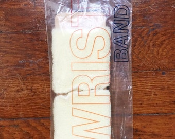 Deadstock Light Yellow Terry Cloth Wristbands