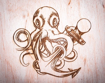 Octopus with Anchor
