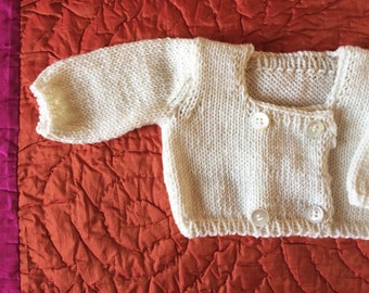 Handmade cachemire sweater for baby girl and boy