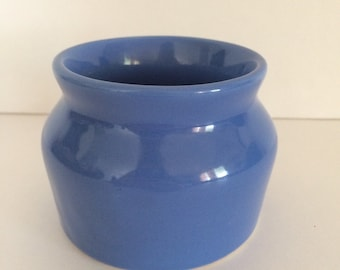 Blue Oxfordware Open Crock 1950's Ceramics Pottery Made in USA #3