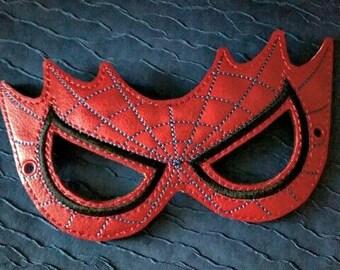Child's Mask - Spiderman - Red Vinyl