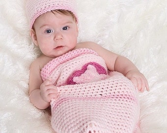 Our Little Love Bug Cocoon and Beanie Set Crochet Pattern PDF 342