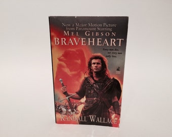 Vintage Pop Culture Book Braveheart by Randall Wallace 1995 Movie Tie-In Edition Paperback