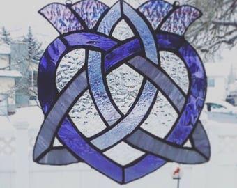 Celtic Love Knot Suncatcher - Stained Glass