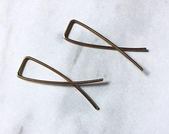 Brass wire earrings