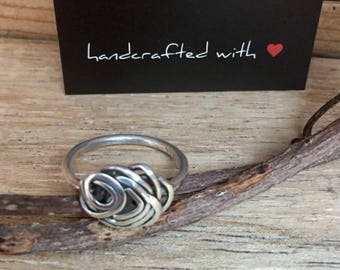 Handmade Sterling Silver Wire Twist ring.