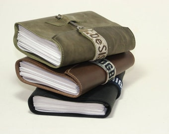Leather Journal LG Custom Deployment Journal - you pick the name and Military branch