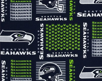 NFL Seattle Seahawks v1 Cotton Fabric by the yard