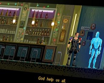 Pixel Art Watchmen Poster