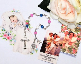 Unbreakable Catholic Relic Chaplet of St. Gianna Beretta Molla - Patron Saint of Pregnant Women and Against Abortion