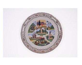 Vintage Gettysburg Souvenir Plate