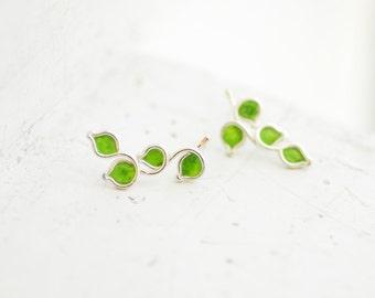 Green Post Earrings, Lime Fruit Studs, Culinary School Graduation Gift
