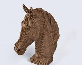 Horse Head - DIY Cardboard Craft