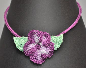 Mercerized cotton crochet Choker designed