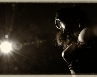 Fetish fine ART nude photography sepia gasmask corset - Wanted - 15