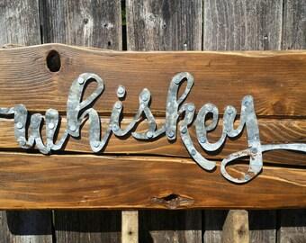 Metal Whiskey Sign