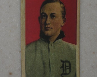 1909 T206 Ty Cobb Red Background with Sweet Caporal Back