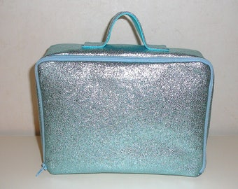 Glitter ice blue suitcase