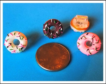 Tube Trinkets:  Delicious Donuts!  Select quantity 2 for a pair!