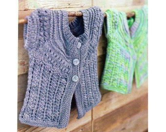 Baby Sweater Knitting Pattern Infant Toddler Cardigan Sweater Knitting Patterns Sizes 6-24 Months PDF Instant Download