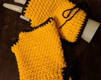 Made to order wrist warmers fingerless gloves