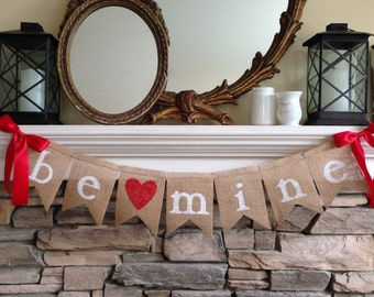 Valentines Day Mantel Decor, Valentines Day Fireplace Decor, Valentine Mantel Decor,Valentine Fireplace Decor,Valentine Mantel,Burlap Banner