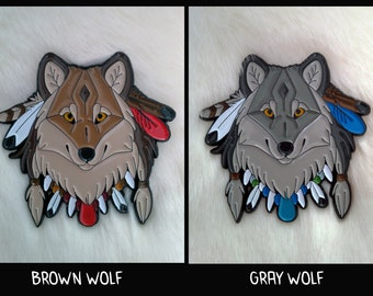 Lapel pin native WOLF