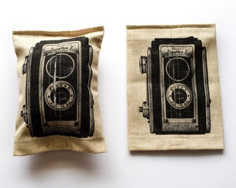 Vintage Camera - Tissue box cover