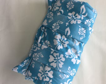 Knee  Hot Cold Pack, Removeable Cover Hot Pack, Lavender Scented Arm Leg Hot Cold Pack, Organic French Lavender and Flax Seed Hot Cold Pack