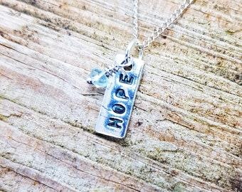 Silver Hope Pendant