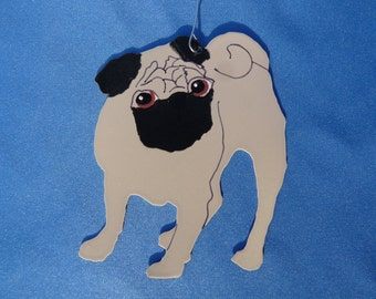Metal Fawn Pug Ornament