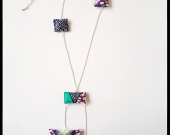 Unstructured Fun Wax patterns and silver chain necklace