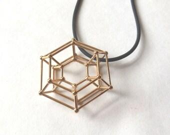 Steampunk Donut -- Bronze Pendant   3d Printed Jewelry   3D Printed Pendant