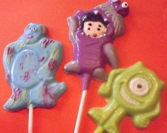 Monsters Inc. Chocolate Candy Lollipops