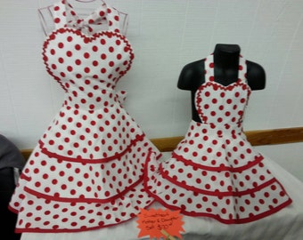 Mother and Daughter Sweetheart Apron Set