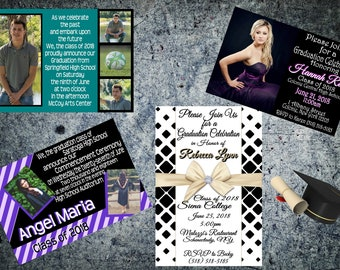 Magnetic Graduation Announcements, Invitations, Save the Dates & Party Favors