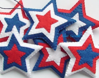 Star American Flag American Flag Decor Fourth Of July Decor Patriotic ornaments American Flag Handmade  American Flag Decor Patrioic Star