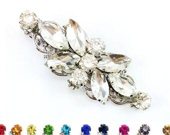 Rhinestone Hair Clip Wedding - Crystal Bridal Hair Clip, Crystal Clear Alligator Clip, Bridal Side Clip, Rhinestone Wedding Hair Accessories