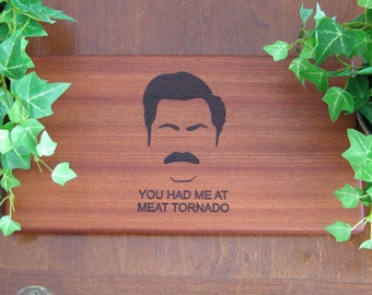 Ron Swanson, Parks & Recreation, Parks and Rec, Personalized, Cheese Board, Thank You, Birthday Gift, Fathers Day, Cutting Board, Tornado