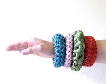 KOLOA Handmade recycled textile bracelet, braided bracelet