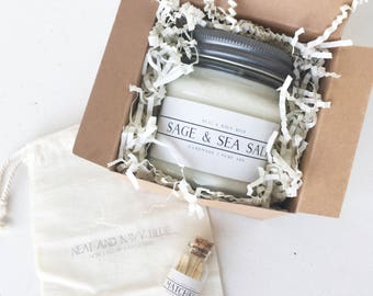 Soy Candle & Matches Gift Box