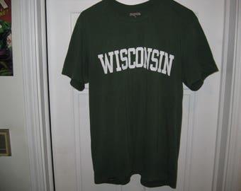 dark green Wisconsin t-shirt