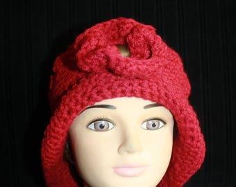 Hat rim wool and acrylic