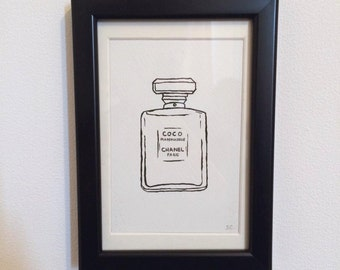FRAMED - Chanel Perfume Bottle // gifts for her // fashion // home decor // wall art