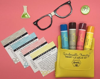 Lip Balm Set: Undeniable Chemistry [for science lovers]