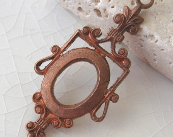 Vintage Framex 39mm Neoclassical Findings.  6 pcs.
