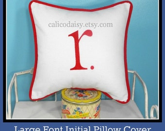 LARGE FONT - Initial It Letter Pillow Cover - Initial It - 16 x 16 square
