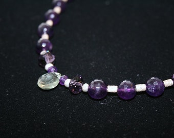 Spring in SIDI BEL ABBES Amethyst, Hilltribe, and Sterling Necklace