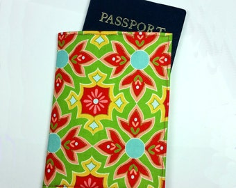 FREE SHIPPING UPGRADE with minimum -  Passport case / passport holder / passport cover : Delightful by Riley Blake