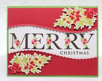 Merry Christmas Botanical Letters Card